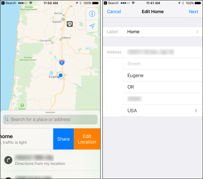 How to Change Your Home Address in Apple Maps Address Location Map on