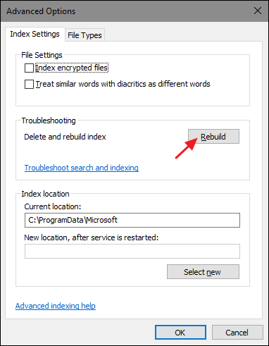 How to Rebuild the Search Index in Windows