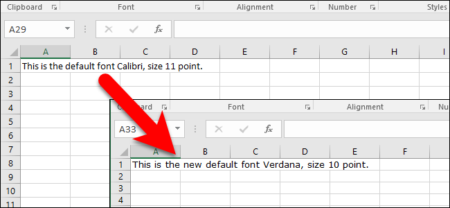 how to set font on word default