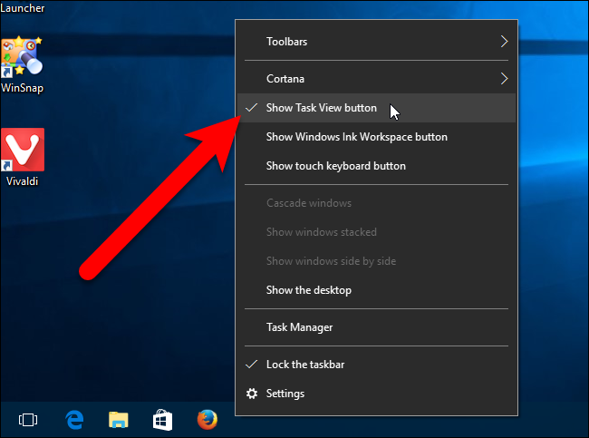 How to Hide the Search/Cortana Box and Task View Button on the