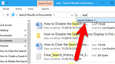 How to Disable the Search History in Windows File Explorer