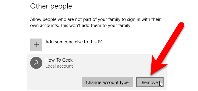 how to delete a profile on windows 8
