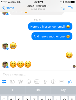 How to Replace the Emoji in Facebook Messenger with the iOS