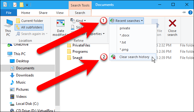 11_selecting_clear_search_history