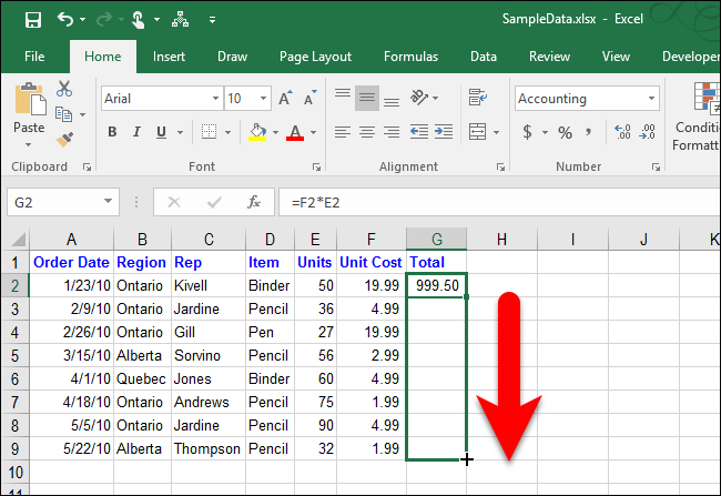 How to use AutoFill in Excel 20162010  all fill handle