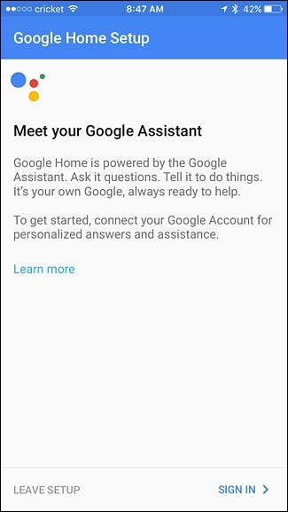 how to set google home to a different google accounts