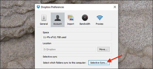 dropbox-preferences-window