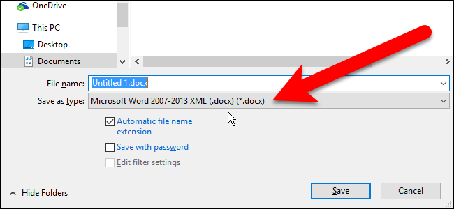 how to change the default file format in libreoffice tips general news