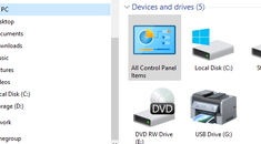 How to Add the Control Panel to Windows' File Explorer