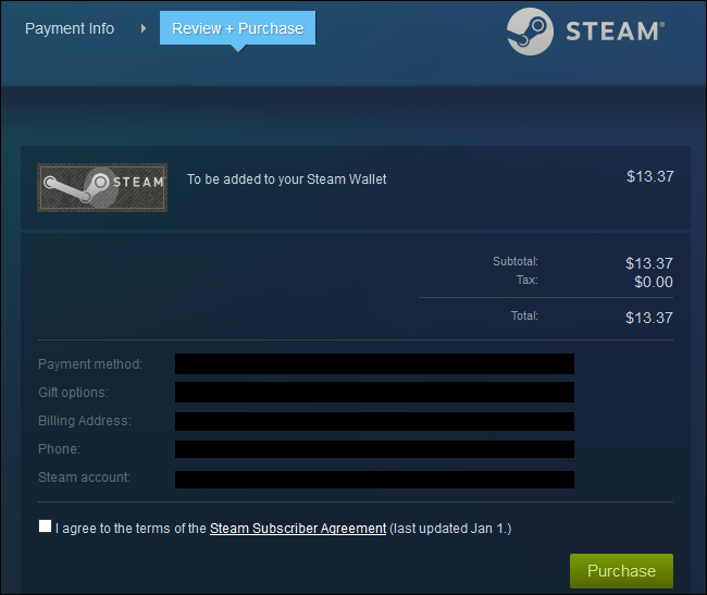 How to Add Any Amount of Money to Your Steam Wallet