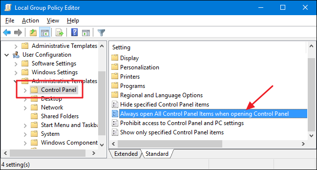 How to Change the Default Control Panel View in Windows