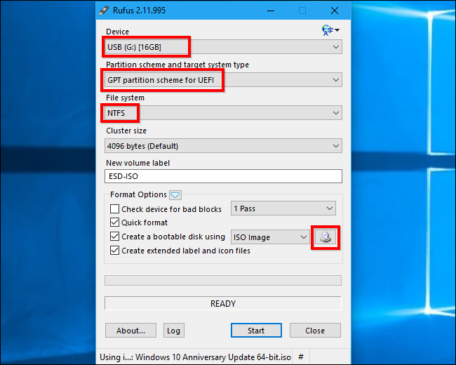 how to use rufus usb boot for windows install