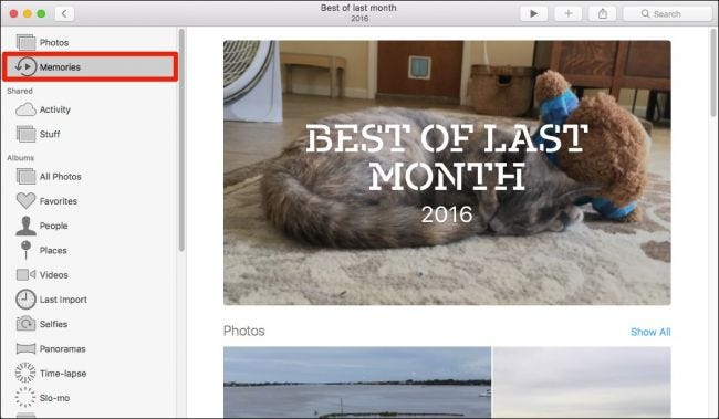 """How to Turn Photos into """"Memories"""" on macOS"""