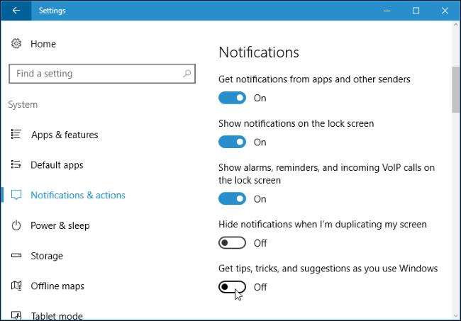 How to Disable Windows 10's Taskbar Pop-up Notifications