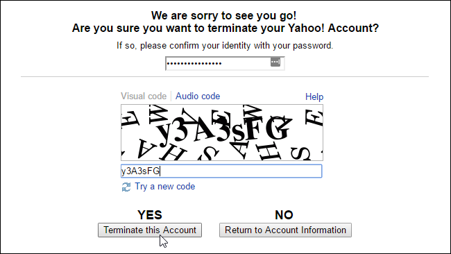 how to find if yahoo account deleted