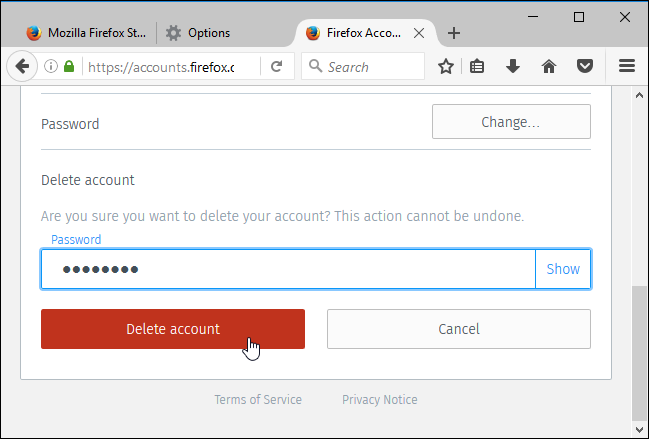how to delete messenger account from browser