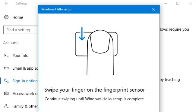 How to Log In to Your PC With Your Fingerprint or Other Device Using