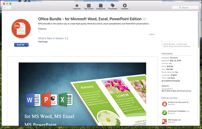 Dont be fooled the mac app store is full of scams office bundle templates toneelgroepblik