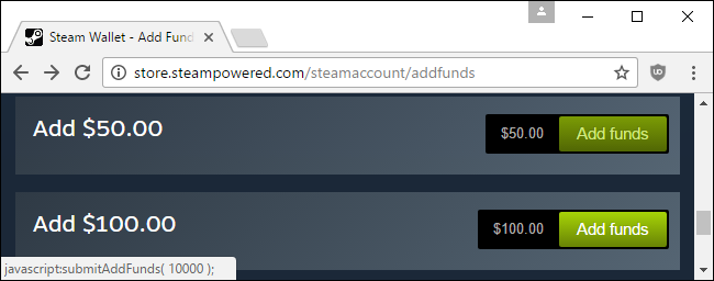 add funds tooltip
