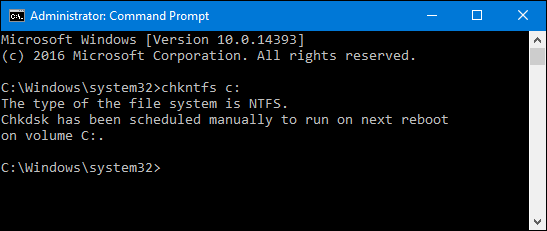 Windows 10 Checkdisk