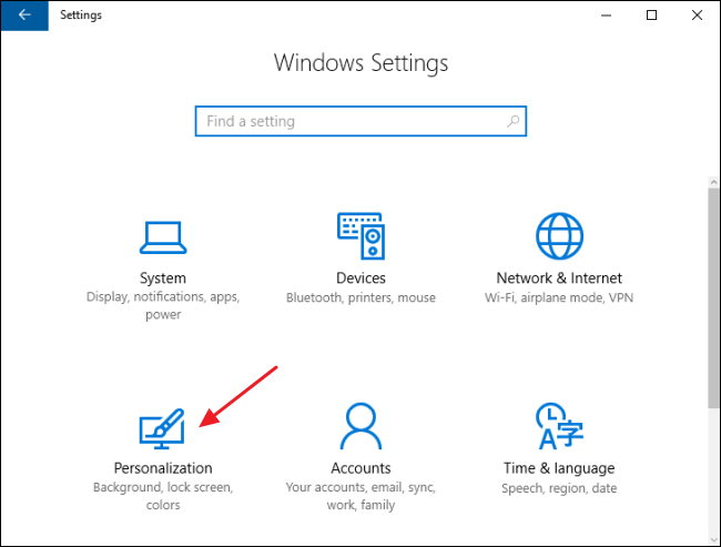 how do i change the taskbar icons in windows 10