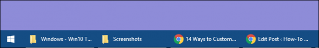 taskbar showing button names