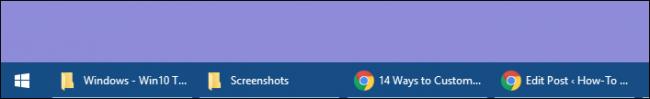 taskbar showing button names