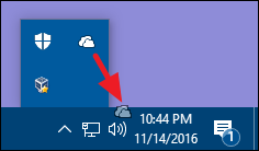 dragging icon from hidden area to regular notification area