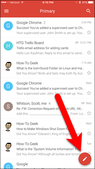 How do i make emails go to a specific folder in gmail app