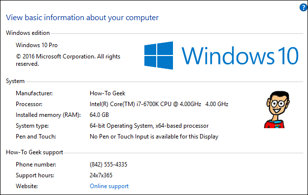 How to Customize the Manufacturer Info for Your Windows PC