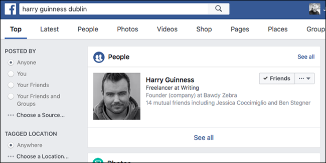 How to Use Facebook's Search to Find Anyone or Anything