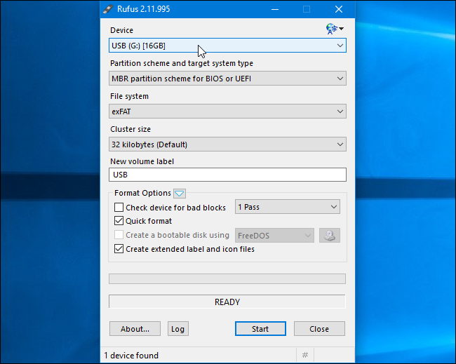 format usb drive for windows iso