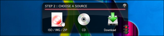 Choosing an ISO file in Linux Live USB Creator