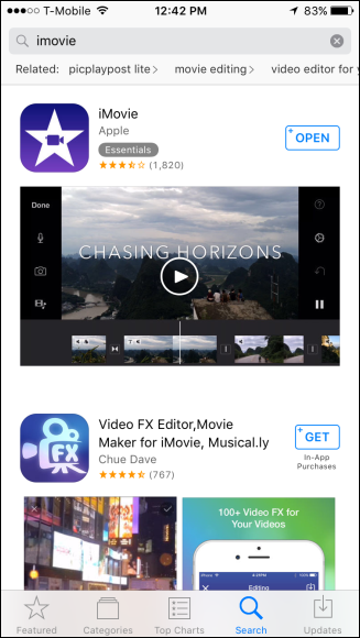 How to rotate videos on the iphone once imovie is installed open it and tap video and then choose the video you want to fix ccuart Gallery