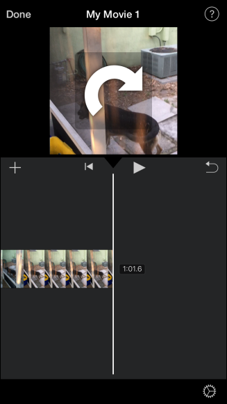How to rotate videos on the iphone now your portrait video will be in landscape mode ccuart Image collections