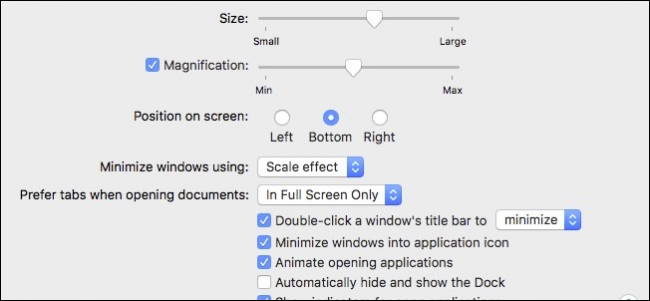 how to minimize icons on mac