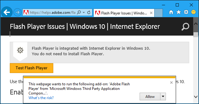 Flash player for windows 10 internet explorer | How to