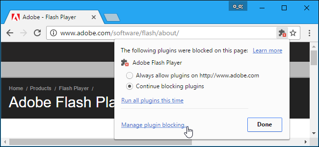 shockwave flash per google chrome