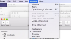 How to Merge Multiple Finder Windows on macOS