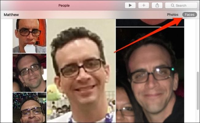 how to train photos on macos to recognize faces