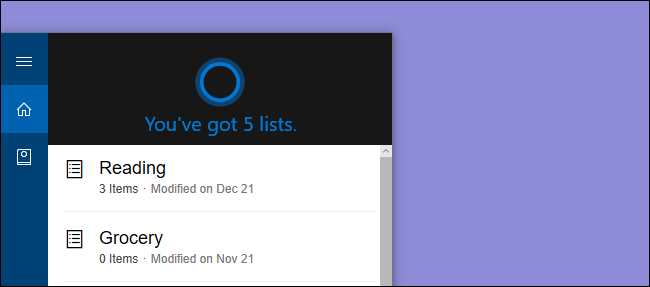How to Create and Edit Lists Using Cortana (and Sync Them with