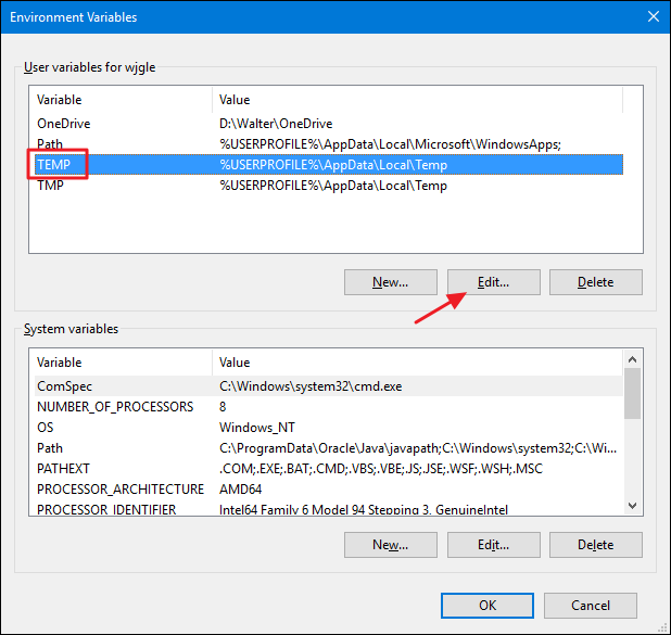 How to Move Windows\u0027 Temporary Folders to Another Drive