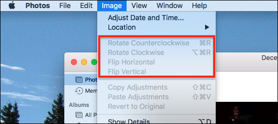 windows live photo gallery rotate greyed out