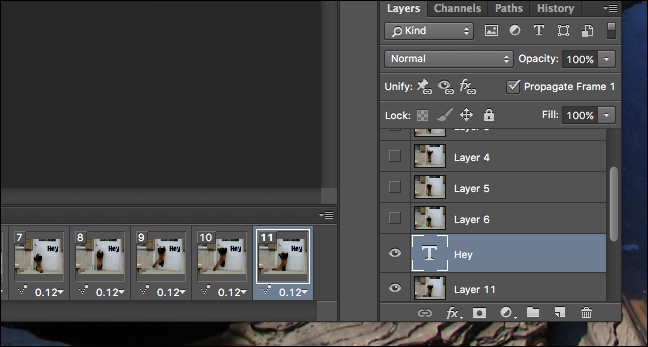 how to put text on a gif in photoshop