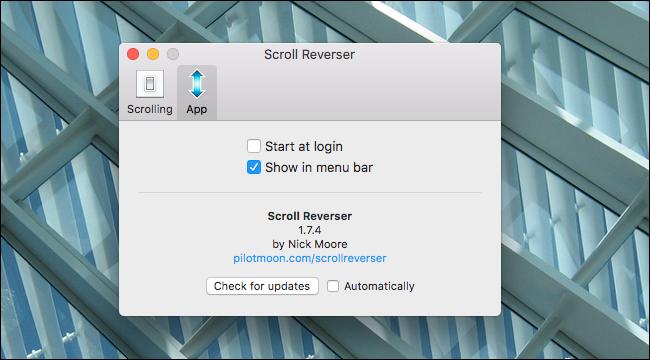 scroll-reversal-hide-icon