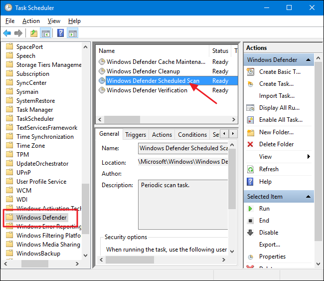 How to Schedule a Scan in Windows Defender