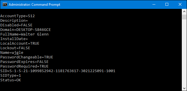 How to Create a Plain Text List of All Windows User Accounts