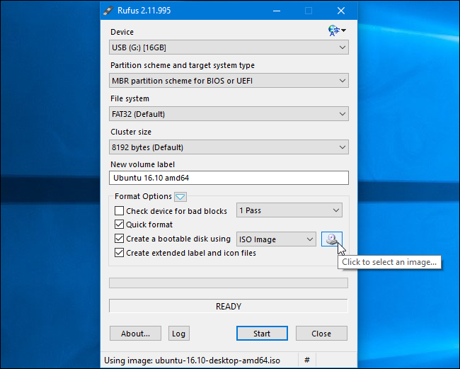 creating windows 10 bootable usb from iso