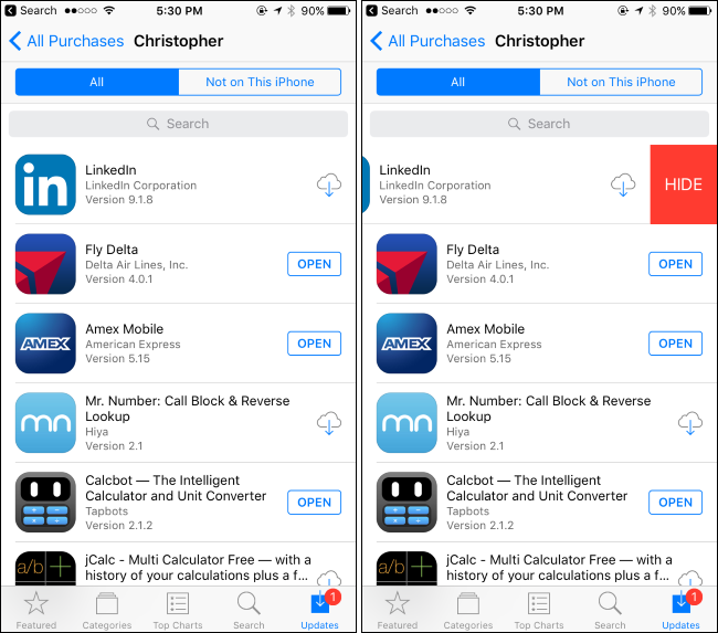How to Hide Apps You've Purchased on Apple's App Store and ...