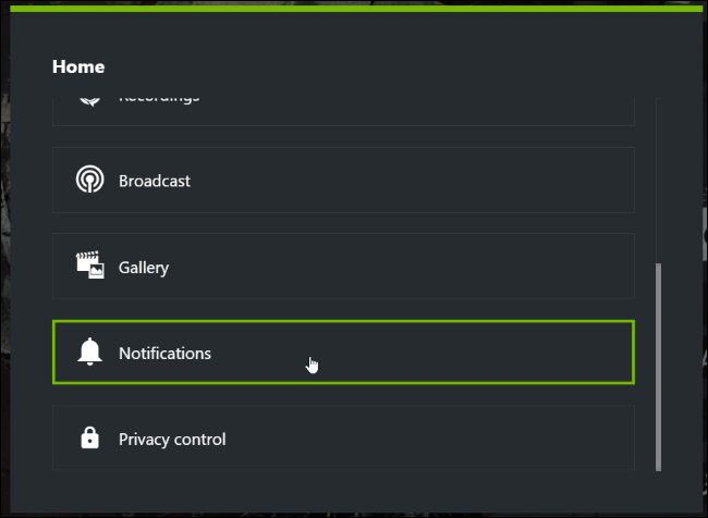 how to change the monitor on witch geforce experience records